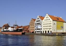 Zdjęcie: Spichlerze na Ołowiance i statek-muzeum SS Sołdek