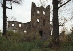 Zdjęcie: Ruiny zamku w okresie przed rozpoczęciem prac rekonstrukcyjnych