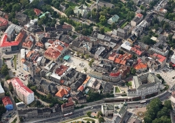 Zdjęcie lotnicze Starego Miasta w Bielsku-Białej