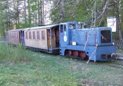 Pociąg kolejki wąskotorowej