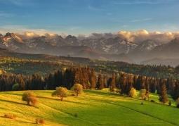 Panorama Tatr z Łapszanki