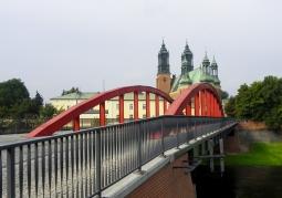 Widok mostu w kierunku Ostrowa Tumskiego