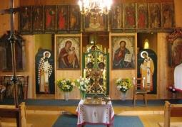 Ikonostas w cerkwi