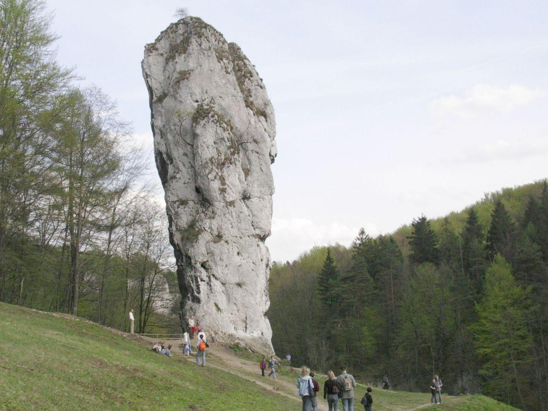 Maczuga od strony zamku w Pieskowej Skale