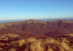 Zdjęcie: Halicz jesienią widziany z Tarnicy