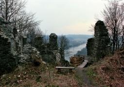 Ruiny jesienią