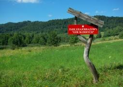 Tablica informacyjna w okolicach Załuża