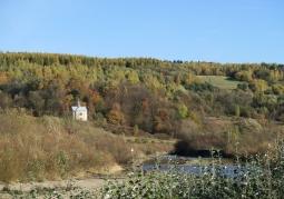 Kapliczka w okolicy klasztoru w Kalwarii Pacławskiej