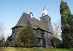 Kościół drewniany, ściany konstrukcji zrębowej