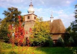 Zabytkowy kościół w Średniej Wsi