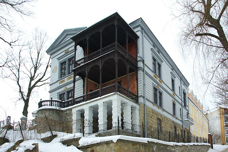 Widok budynku od Schodów Zamkowych