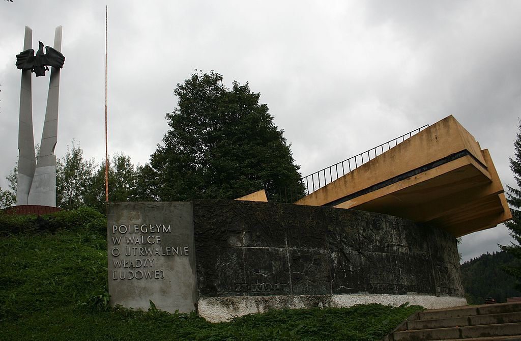 Pomnik w Cisnej