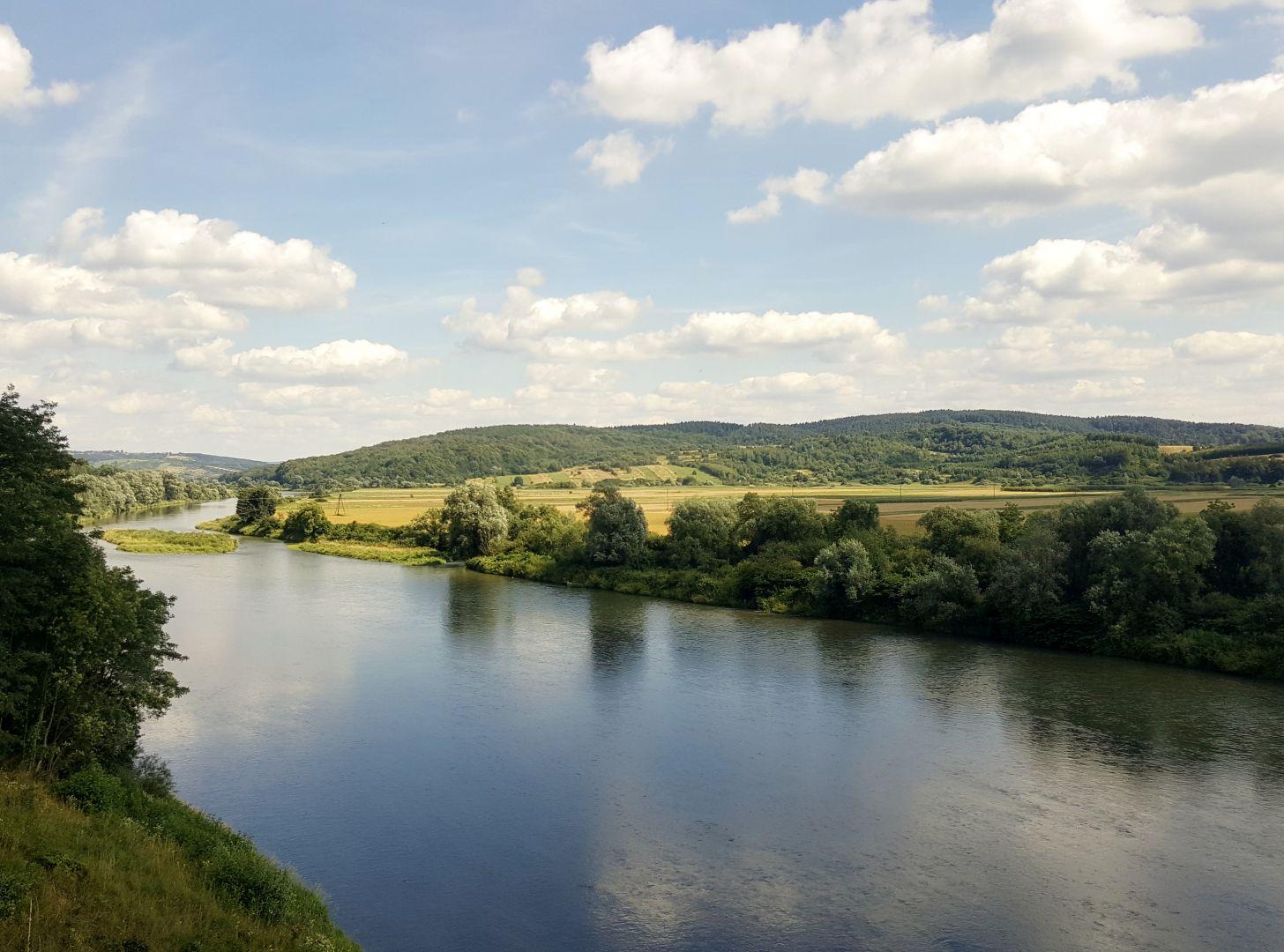 Widok na rzekę San