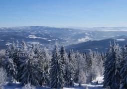 Rezerwat Czantoria zimą