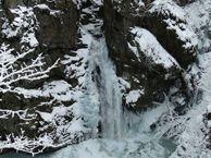 Wodospad Wilczki zimą