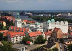 Zamek i panorama Szczecina