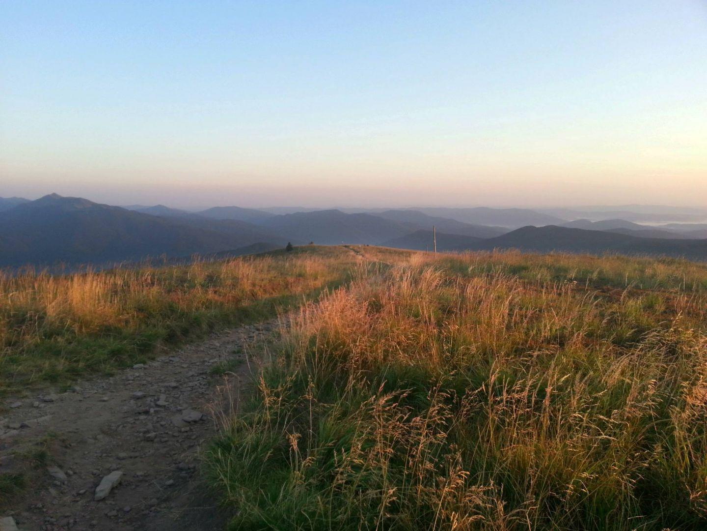Szeroki Wierch o wschodzie słońca