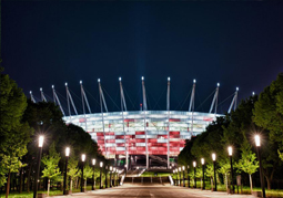 Stadion nocą