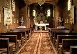 Wnętrze cerkwi w Sierpniu 2012