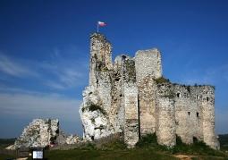 Widok zamku od strony wschodniej