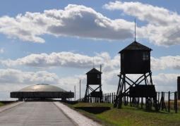 Widok obozu KL Lublin od strony północnej.