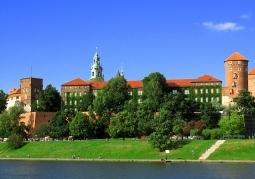 Zamek na Wawelu od strony Wisły