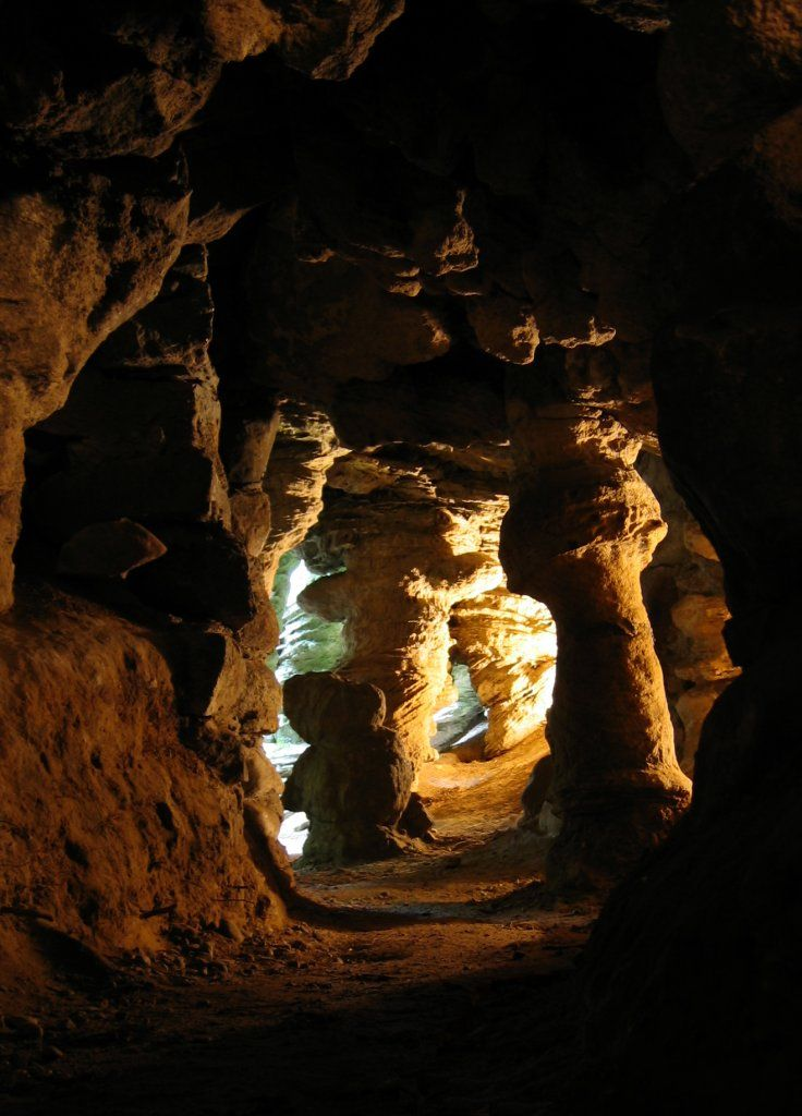 Wnętrze Grot Mechowskich