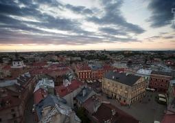 Panorama Lublina podczas Karnawału Sztukmistrzów