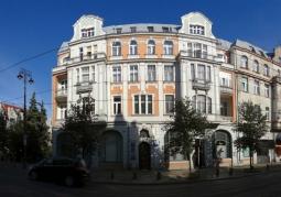 Panorama ulicy Gdańskiej z kamienicą nr 68