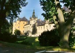 Zamek widok z parku