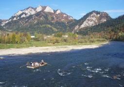 Trzy Korony widziane z Przełomu Dunajca