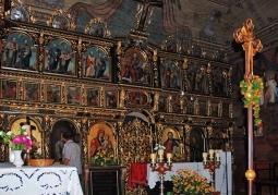 Zabytkowy ikonostas w Czarnej