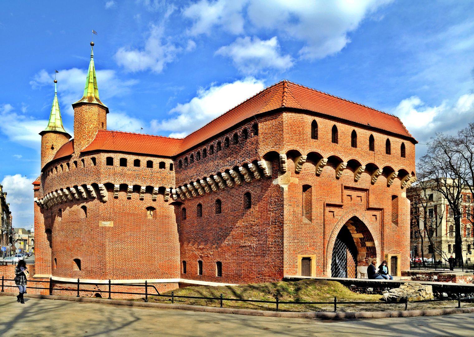 Średniowieczny barbakan krakowski